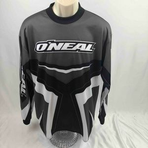 O'Neal Racing Mens Jersey Black Gray White L/S M